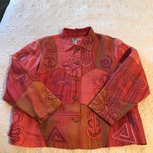 Beautiful Patchwork Coldwater Creek Jacket - PXL